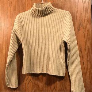 Junior tan Turtleneck Sweater